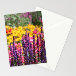 English country garden flowering border Stationery Cards