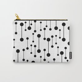 Unity - Minimalistic Black And White Pattern Carry-All Pouch