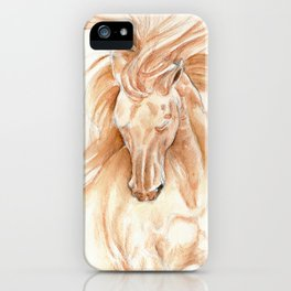 Golden Lusitano Stallion Study In Watercolor iPhone Case