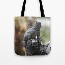 Funny animals - two marine iguanas in the Galapagos Tote Bag