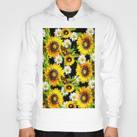 sunflowers Hoodies featuring Sunflowers by Saundra Myles