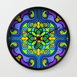 Rivets and Spinners Wall Clock