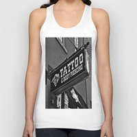 tattoos Tank Tops featuring Tattoos Here by Biff Rendar