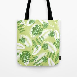 Fresh Tropical Palm Leaf Tote Bag