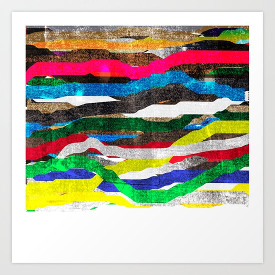 fancy stripes 2 Art Print
