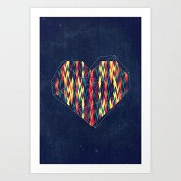 Interstellar Heart Art Print