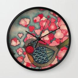 Blossom Birds Wall Clock