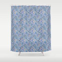 Blue Hydrangea Petals Shower Curtain