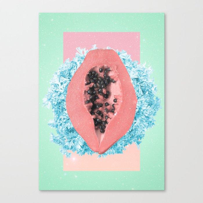 Papaya Rocks Canvas Print