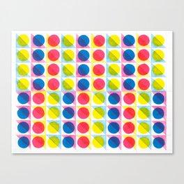 Primary Dots Canvas Print