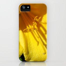 Yellow Trumpet iPhone Case