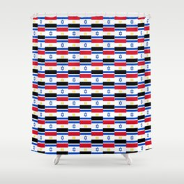 Mix of flag : Israel and Egypt Shower Curtain