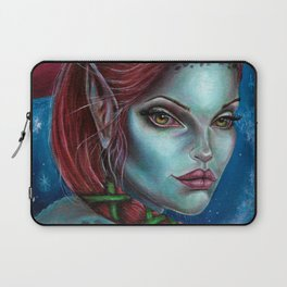 Apocolpyse Alien Girl Fantasy Art by Laurie Leigh Laptop Sleeve