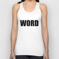 word Tank Tops featuring WORD by Raunchy Ass Tees