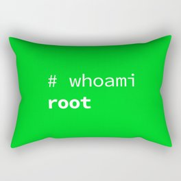 Who am I? Root, the System Administrator Rectangular Pillow