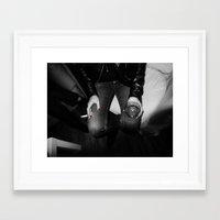 vodka Framed Art Prints featuring vodka & cigarette by Mr. Messy
