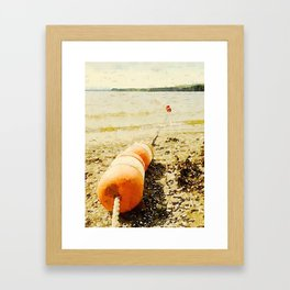 Floats, Lily Bay State Park, Maine Framed Art Print