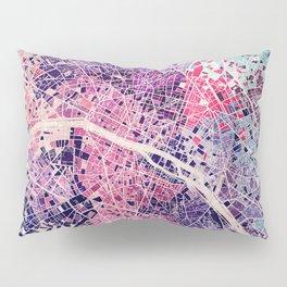 Paris Mosaic map #1 Pillow Sham