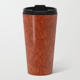 Red Brick Efect Background Travel Mug