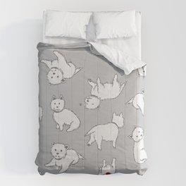 Playful Westies Comforters