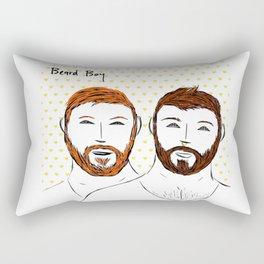 Beard Boy: Couple of Men Rectangular Pillow