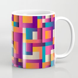Abstract Background Geometry Blocks Squares Coffee Mug