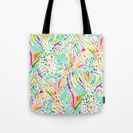 FRUITFETTI Colorful Wild Pineapples Tote Bag