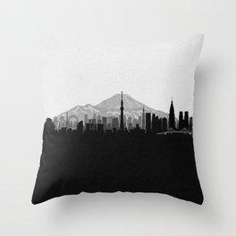 City Skylines: Tokyo Throw Pillow