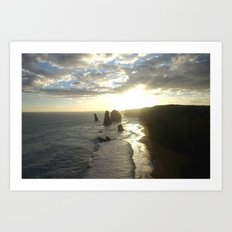 Dusk falls over the Great Southern Ocean Art Print