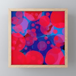 bubbles in red and blue Framed Mini Art Print