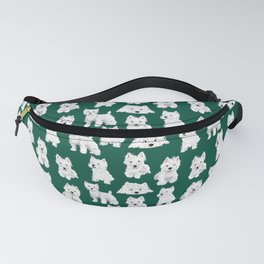 Westies on Green Fanny Pack