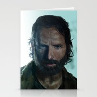 rick grimes Stationery Cards featuring The Walking Dead - Rick Grimes by firatbilal