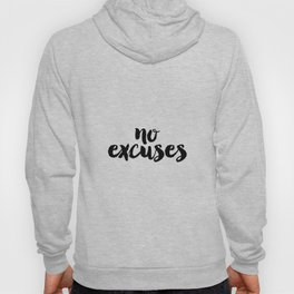 No Excuses, Printable Poster, Home Decor, Office Motivation, Workout Poster, Workout Motivation, Fit Hoody
