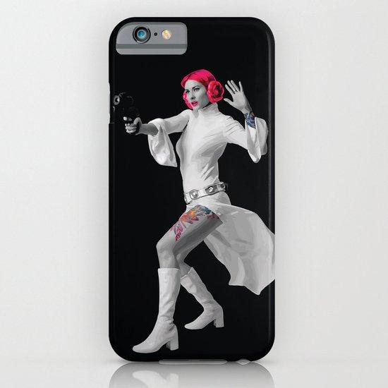 Princess Leia Strikes Back iPhone & iPod Case