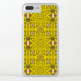 stars and flowers in the forest of paradise love popart Clear iPhone Case