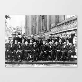 World-Renowned Physicists of 1927 at Solvay Conference Canvas Print