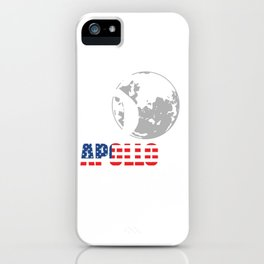 50th Anniversary Apollo 11 First Manned Lunar Landing July 20. 1969 T-shirt Design Spaceship iPhone Case