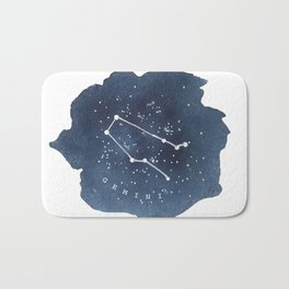gemini constellation zodiac Bath Mat