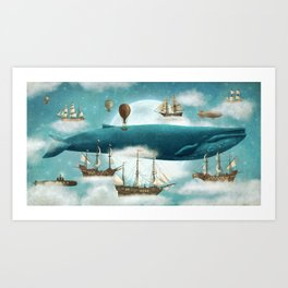Ocean Meets Sky - revised Art Print