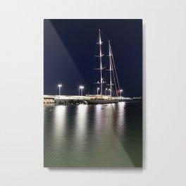 Reflection ligths boat Piriapolis Metal Print