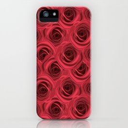 Red rose background pattern iPhone Case