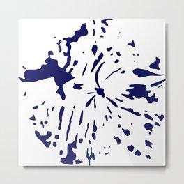 dark blue ink splatter Metal Print