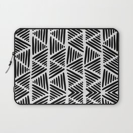 Black and White Abstract I Laptop Sleeve