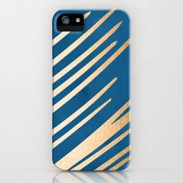 Swish - Orange Sherbet Shimmer on Saltwater Taffy Teal iPhone Case