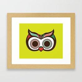Day 0f the Dead Owl Framed Art Print