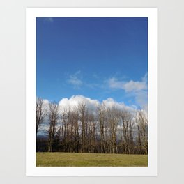 Blue Lined Skies Art Print