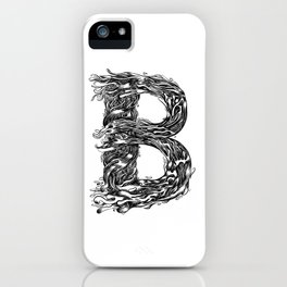 The Illustrated B iPhone Case