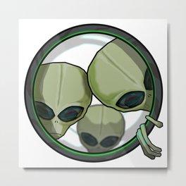 Drawlloween 2015 - Day 10 - Alien Metal Print