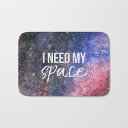 I Need My Space Watercolour Bath Mat
