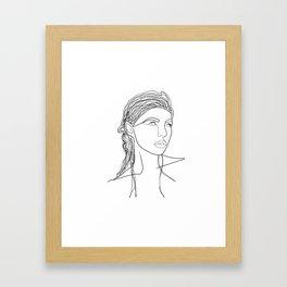 Line Art Woman Framed Art Print